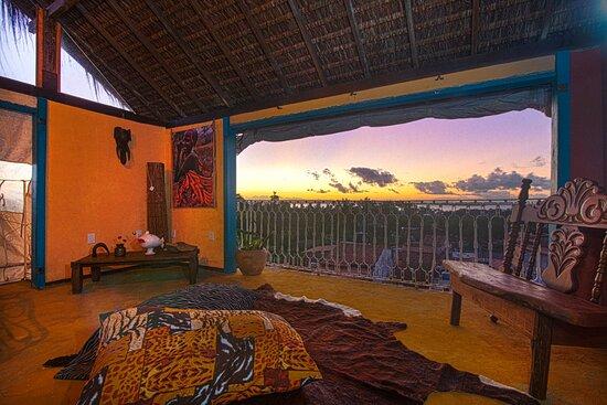 Gamboa, BA: Terraço com vista panoramica. O melhor pôr do sol.