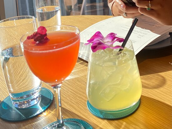Our drinks to get us comfortable:  #loveforlotte & Soju Spritz