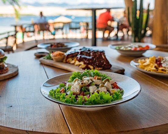 Beach garden bar and restaurant // Zrće beach (Island of Pag), Croatia