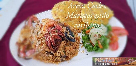 Un arroz con mariscos, con todo el sabor del Caribe costarricense. Preparado con los más altos estándares de calidad y los más frescos ingredientes.