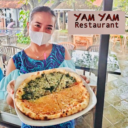 Weekend only piZza  YAM YAM Restaurant Jepara is Open Everyday!!!!!! Nonstop. Stay safe & healthy.  See you... Kiss (from faraway) All staff YAM YAM 😘