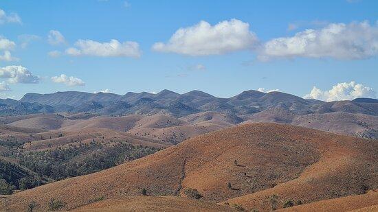 Flinders Ranges in the midday sun