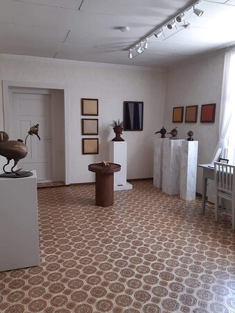 One of the gallery rooms with artwork