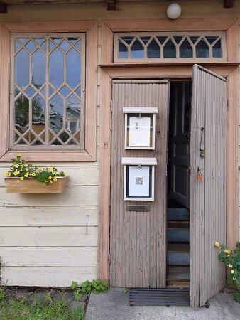 The gallery door in the court yard