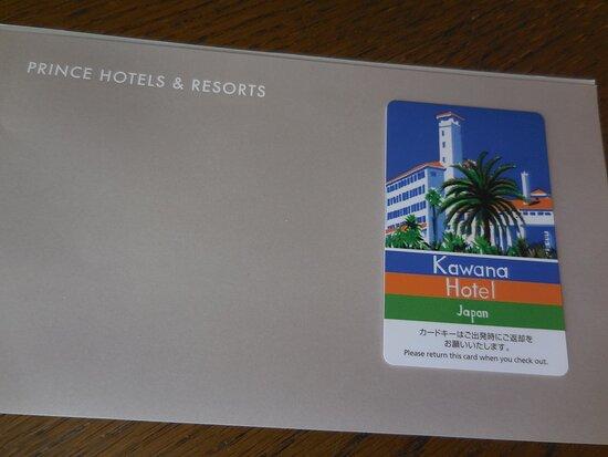 カードキーはリゾート感満点。