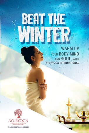 🎊BEAT THE WINTER WITH AYURYOGA, Warm up your Body, Mind and Soul,  #AYURVEDA    ☎️58661111 or 58074009 or 4895332  🏠Leclezio Ave, TelFair,MOKA  📆7 Days in a Week   ⏰8:00 am to 8:00 pm www.ayuryogainternational.com