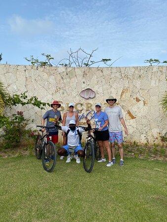 Mr Blue took us on a fun bike ride outside the resort. He was a blast.