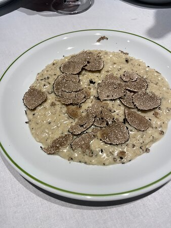 Truffle risotto with pecorino cheese (off the menu, requested)