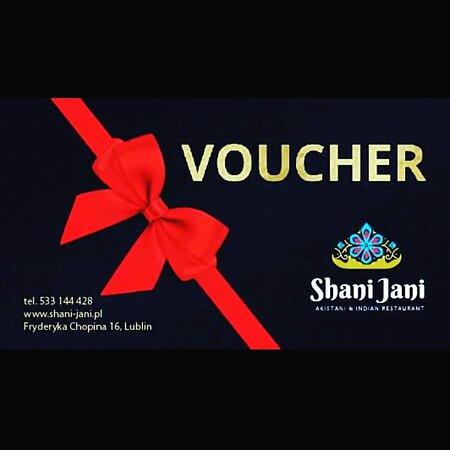 Jeśli chcesz nie masz pomysłu na prezent. Podpowiadamy, kup voucher w Shani Jani na wybraną przez Ciebie kwotę. Minimalna kwota 60 zł