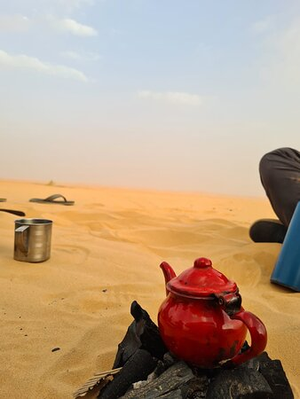 making tea in the desert