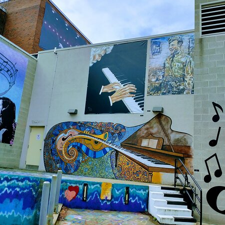 The Westmoreland Cultural trust art in the alley in Greensburg,Pa USA