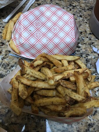 Herb Fries with a generous amount of herbs.