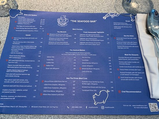 The Seafood Bar - Meat the Sea - menu