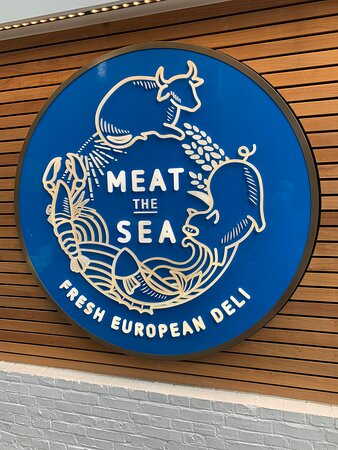 The Seafood Bar - Meat the Sea - sign