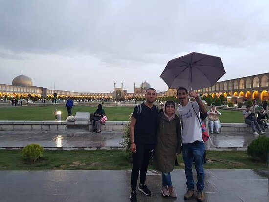 with my Tourists From Malta in Isfahan