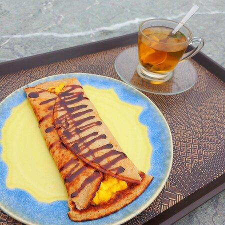 Yummy Pancake!  at Rahi Cafe, Near Osho Nisarga, Kangra-Dharamshala Rd., (via Sheela), HP