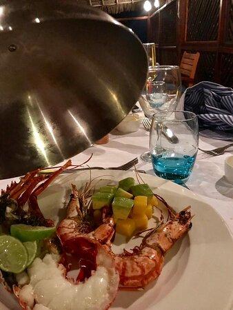 Lobster dinner at Blue Restaurant