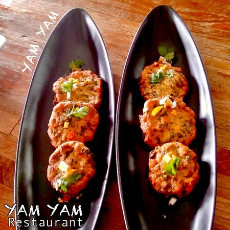 Tod Man Pla (Thai Fishcake)  YAM YAM Restaurant Jepara is Open Everyday!!!!!! Nonstop. Stay safe & healthy.  See you... Kiss (from faraway) All staff YAM YAM 😘