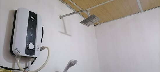 hot water shower and water shower