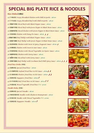 Takeaway Menu - Foto Sun House Chinese Takeaway, Sheffield - Tripadvisor
