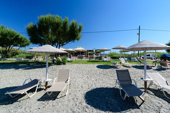 menta beach bar restaurant chania crete greece maleme platanias