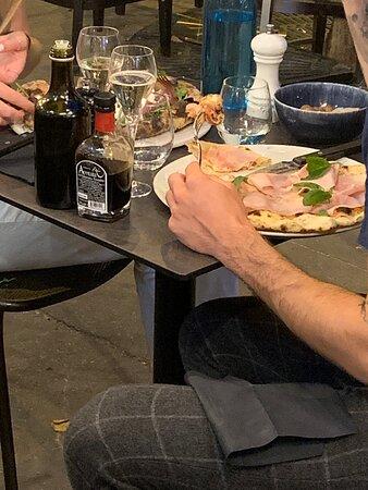 Italian for dinner by Tour Eiffel- oh oui!