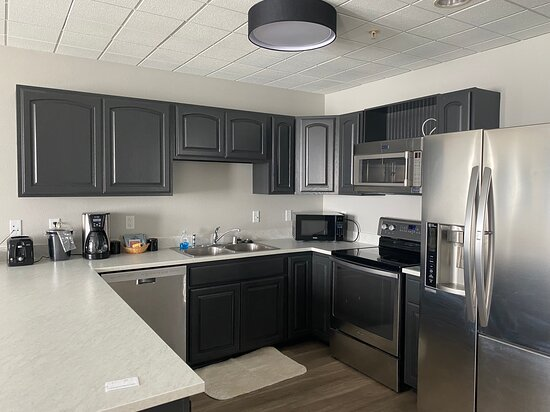 Great full kitchen in room 118