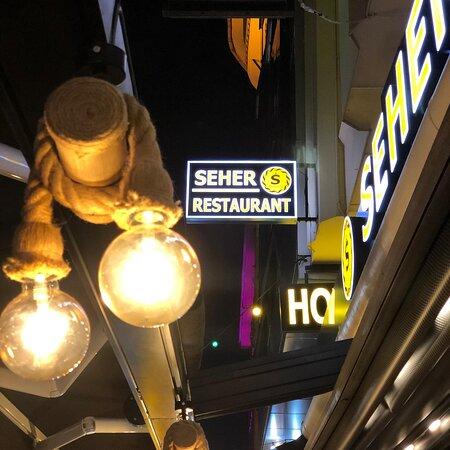 Outside Seher restaurant