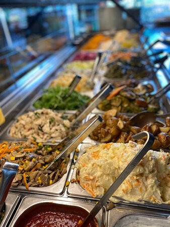 The salad bar never looked this good! We are ready to serve you some tasty Turkish cuisine! <3