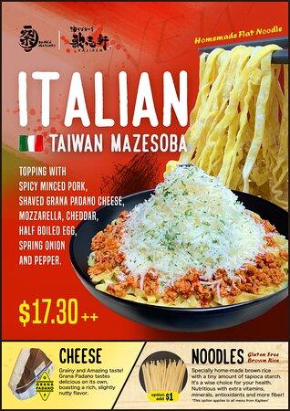Italian Taiwan Mazesoba
