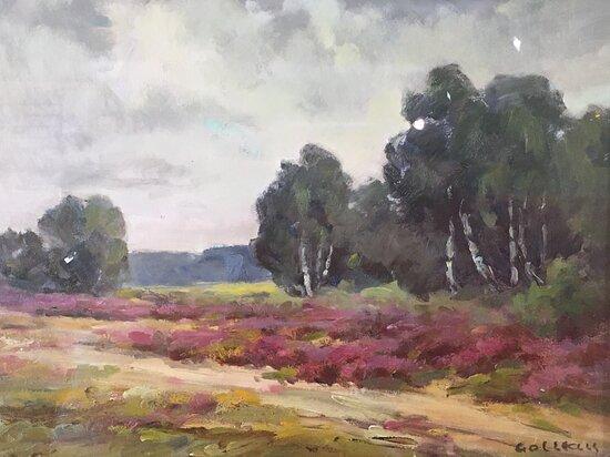 Les bruyères, tableau de Maurice Golleau, 20e siècle, collections du musée de Sologne