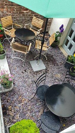 We also have a courtyard garden
