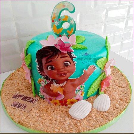 Customized baby birthday cake
