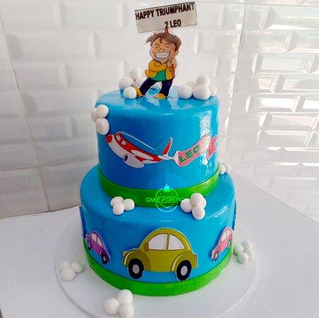 Two tire customized birthday cake