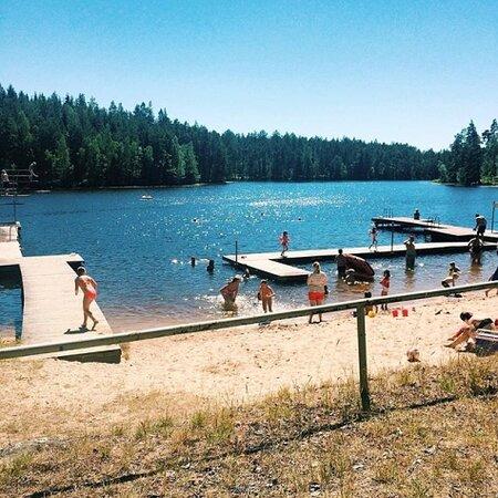Badplatsen i Högsjö