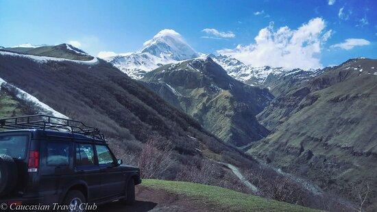 Вид на гору Казбег