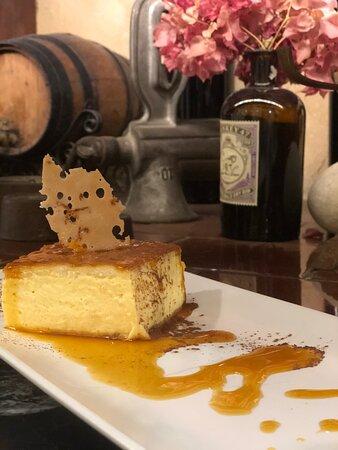 Uno de los deliciosos postres que se puede encontrar en la carta del restaurante Palace fesol, entre los que se encuentran productos sin gluten.