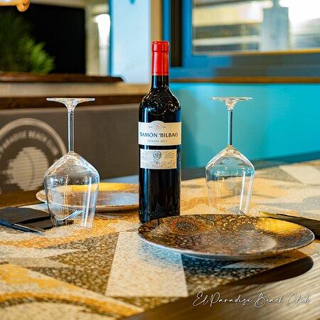 Pregunte a nuestro personal por la selección de vinos.