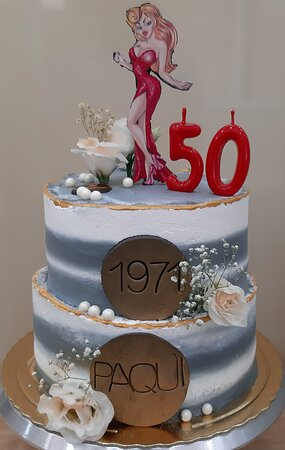 Tarta 50 cumpleaños personalizada