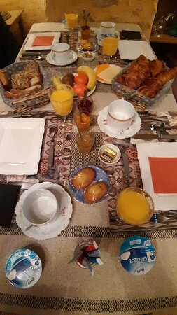Breakfast spread the next morning.