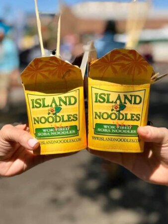 Cheers to yummy noodles!