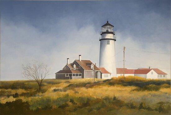 "Cape Cod Light, Oil on Linen, 36"" x 50"""