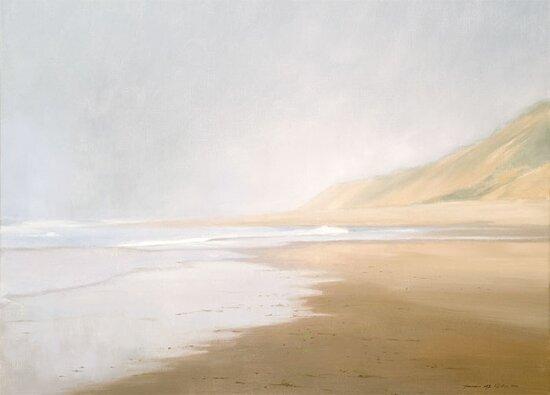 Fog, Ocean Beach, Oil on Linen.