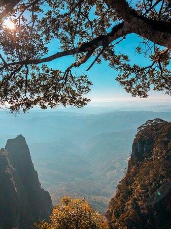 Paisagem da vista do Mirante do Parque Altos do Corvo Branco.
