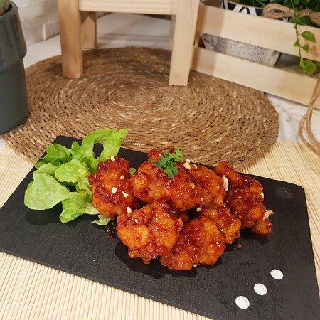 Dakgangjeong( pollo, chicken )