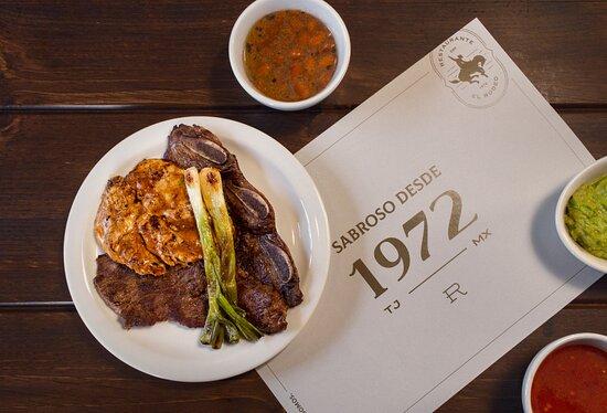 Del asador a tu plato: pollo, aguja y arrachera.