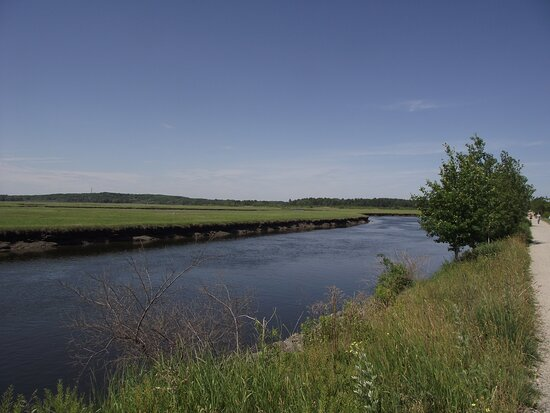 ME - SCARBOROUGH – EASTERN TRAIL – VIEW OF MARSH & RIVER #4