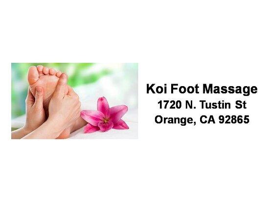 ออเรนจ์, แคลิฟอร์เนีย: Koi Foot Massage In Orange, CA Address Photo