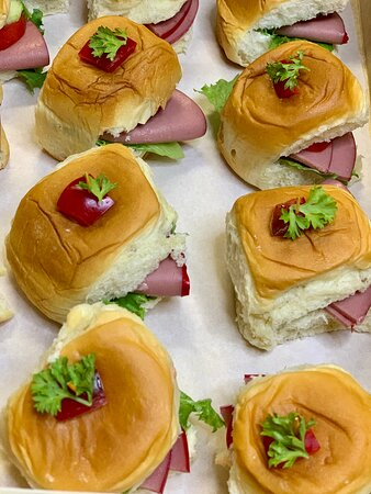 Ham breakfast or cocktail sandwiches @pizzazzfusionja