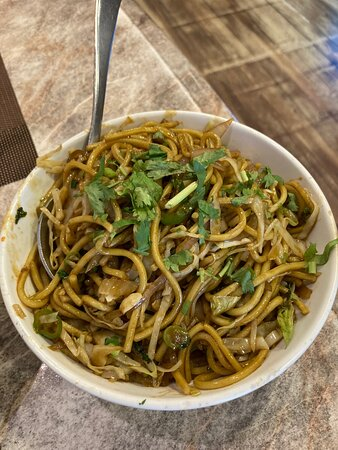 Hakka noodles, hand pulled and all that :)